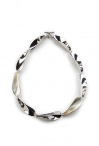 Chilli 17 Silver Repeat Link Necklace -9