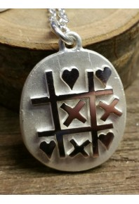 Hearts & Kisses Silver Pendant