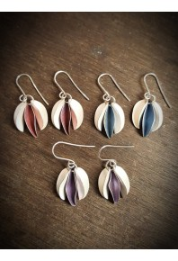 Mixed Chilli Silver And Aluminium Small Earrings