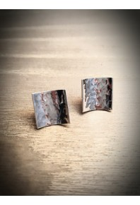 Reflections Silver Plannish Small Stud Earrings