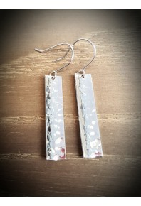 Reflections Silver Plannish Drop Earrings