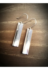 Reflections Silver Polished Drop Earrings